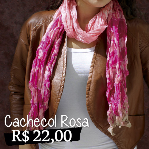 Cachecol Rosa